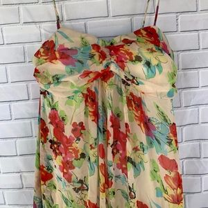 Alyn Page Floral Strapless Ruffled Dress Size 9/10